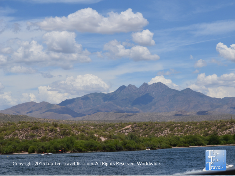 Four Peaks as seen from the Desert Belle Cruise in Mesa, Arizona