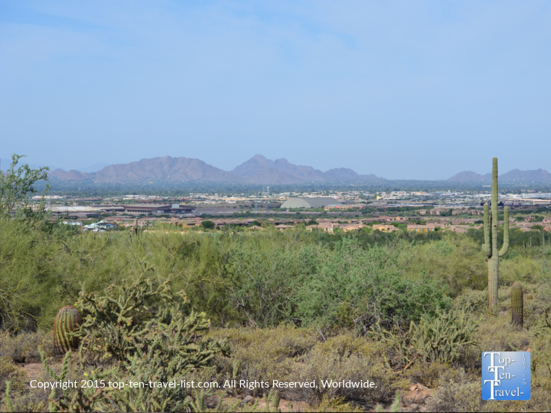 Great views from the Horseshoe Loop at McDowell Sonoran Preserve in Scottsdale, Arizona