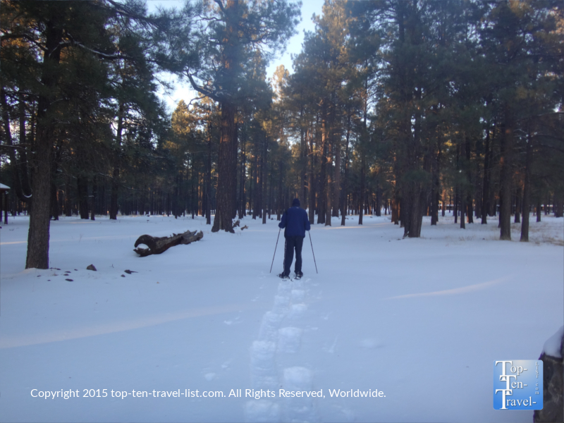 Snowshoeing at Fort Tuthill Park in Flagstaff, Arizona
