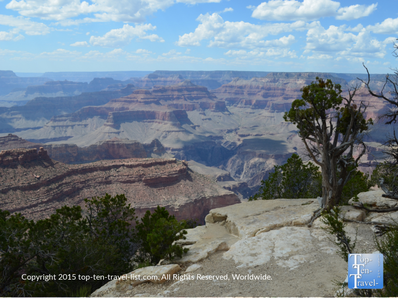 Scenic views from the Rim Trail at the Grand Canyon's South Rim