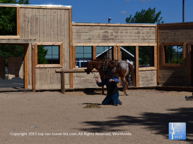 Wild West Shootout show at the Grand Canyon Railway in Williams, Arizona
