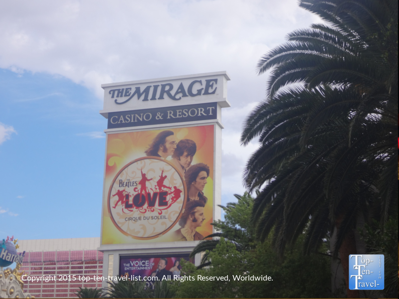 The Mirage sign in Las Vegas, Nevada