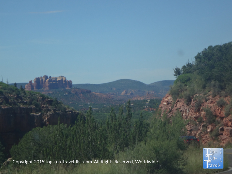 Views of Cathedral Rock from Oak Creek Canyon drive