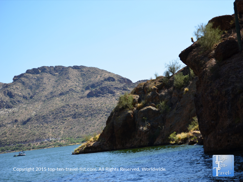Beautiful views of Canyon Lake on the Dolly Steamboat cruise in Southern Arizona