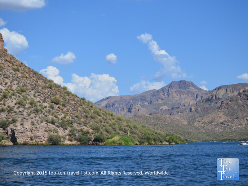 Gorgeous views of Canyon Lake from the Dolly Steamboat cruise in Southern Arizona