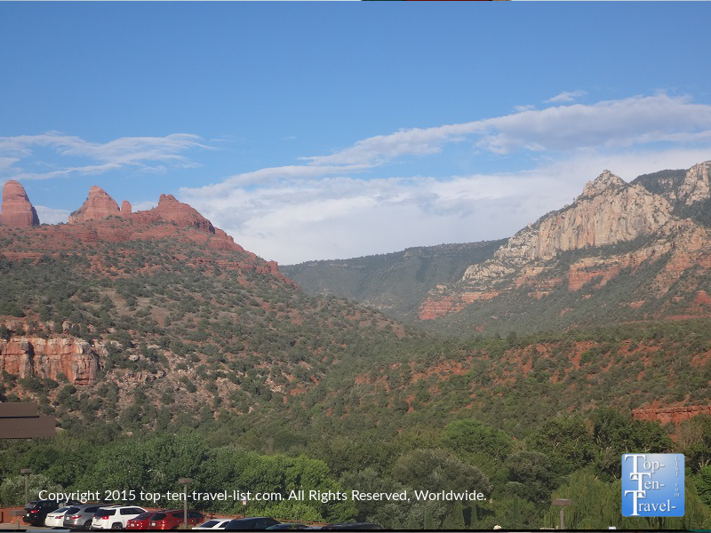 Beautiful views of the red rocks in Uptown Sedona
