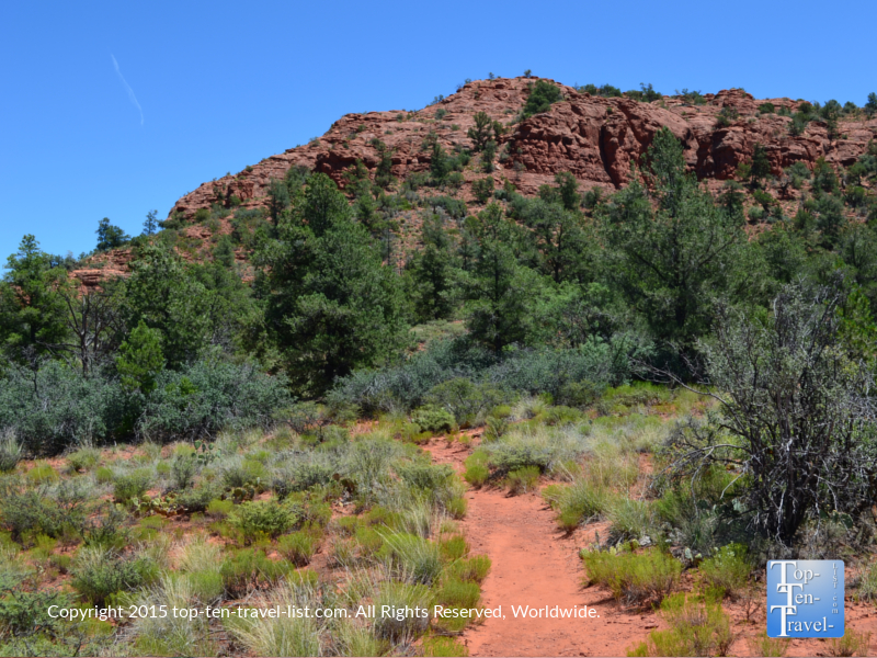 A view of the Eagle's Nest Trail at Red Rock State Park in Sedona, Arizona