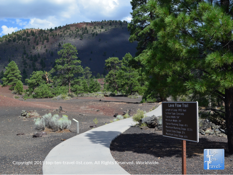 The Lava Flow trail at Sunset Crater National Monument in Flagstaff, Arizona