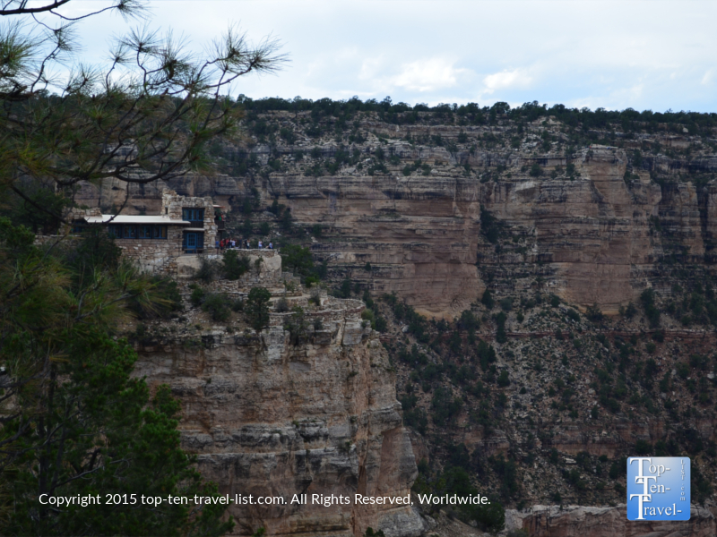 A view of Lookout Studio from the Rim Trail - The Grand Canyon South Rim