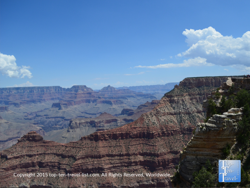 A view of Mather Point from the Rim Trail