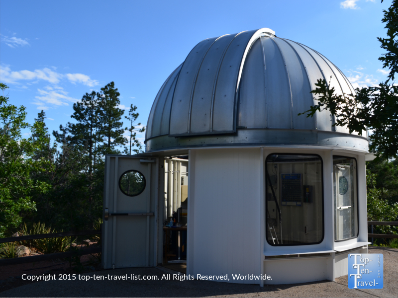 The McAllister telescope dome at Flagstaff's Lowell Observatory