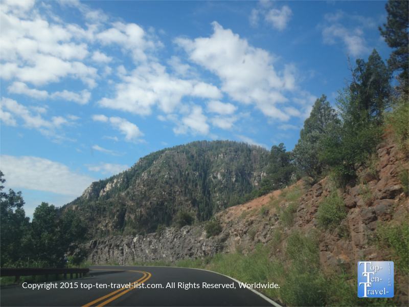 Great mountain views along Oak Creek Canyone d