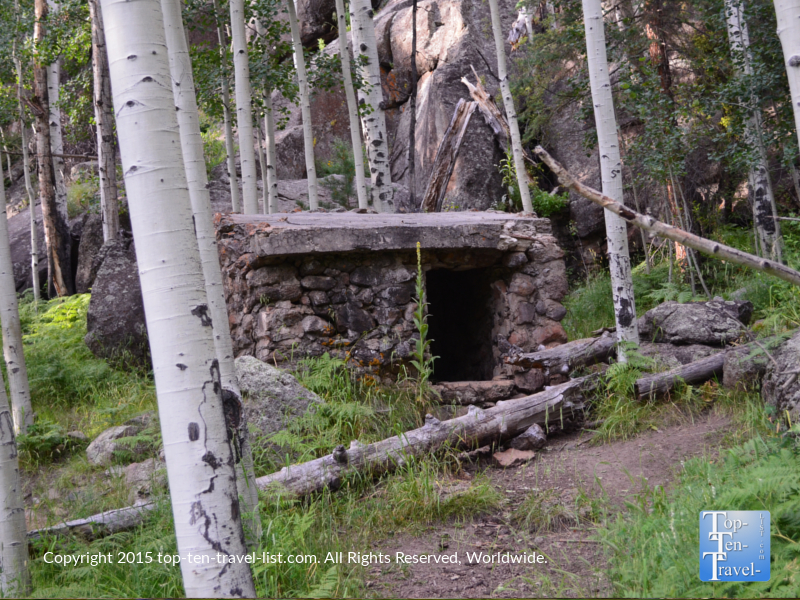 Old stone cabin on the Veit Springs loop trail near Flagstaff, Arizona