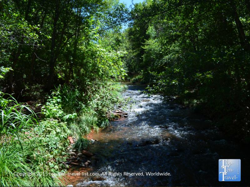 Beautiful creek views at Red Rock State Park in Sedona, Arizona