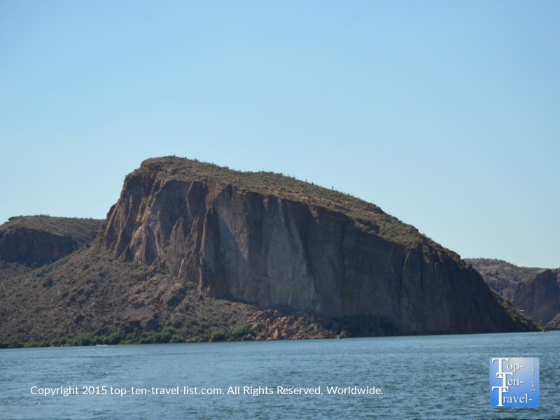 Beautiful lake views on the Dolly Steamboat cruise in Southern Arizona