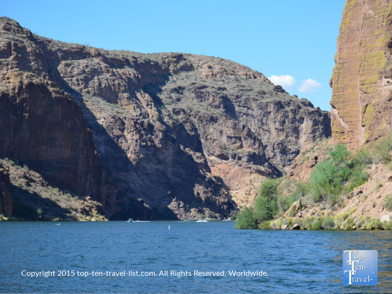 Pretty mountain views on the Dolly Steamboat cruise in Southern Arizona