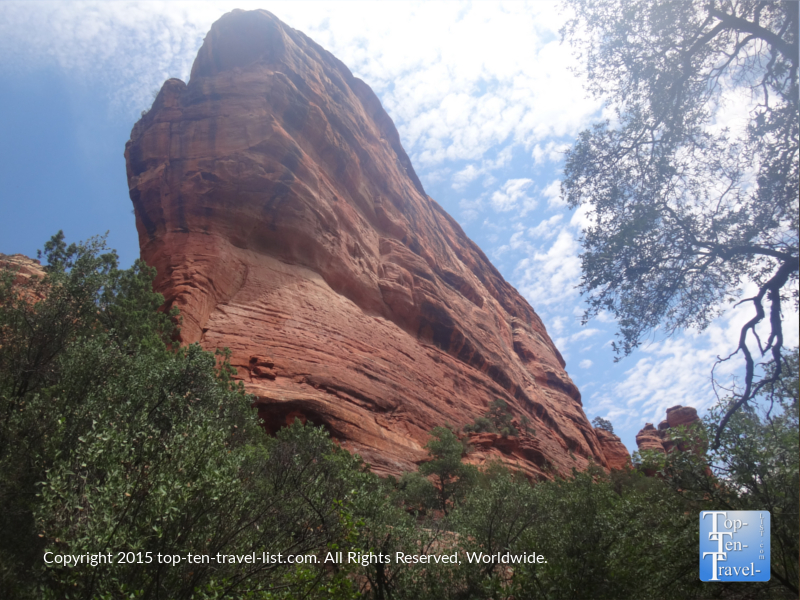 Beautiful red rock views on the Fay Canyon trail in Sedona, Arizona