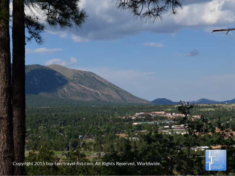 Beautiful views of Flagstaff's mountains from the Lowell Observatory