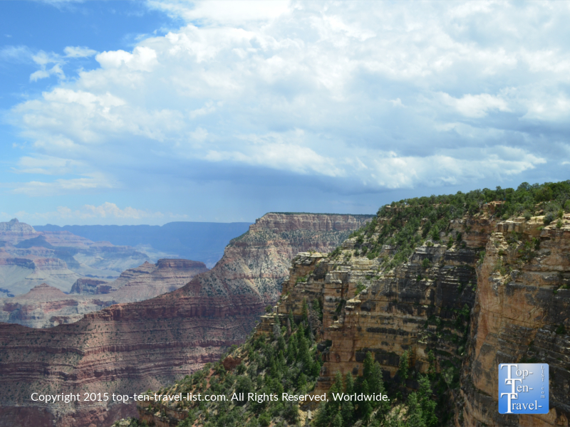 Pretty views at an observation point near Mather Point - on the Grand Canyon Rim Trail