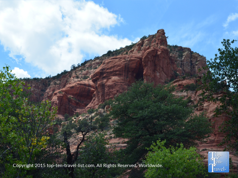 Gorgeous red rock views on the Fay Canyon trail in Sedona, Arizona
