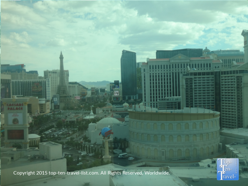 Views of The Strip from the Mirage hotel room - Las Vegas, Nevada