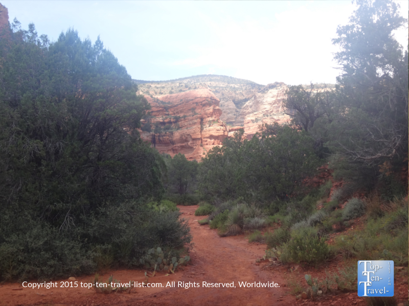 A view of the Fay Canyon hiking trail in Sedona, Arizona