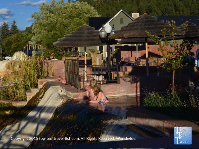 Relaxing in one of the many springs in pagosa springs