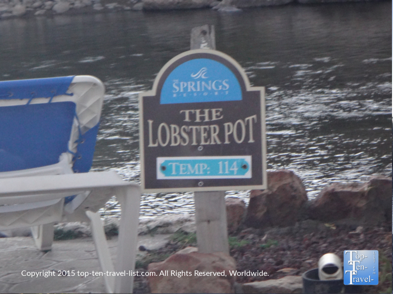 The 114 degree lobster pot hot springs in pagosa springs