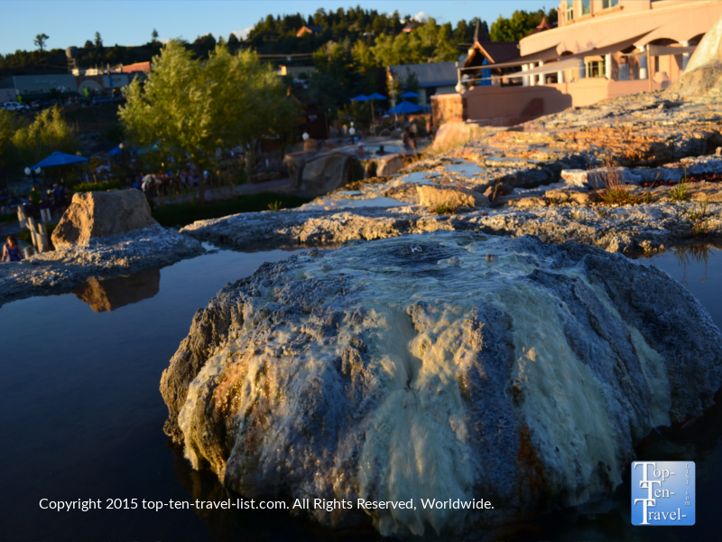 Natural mineral formation at The Springs in Pagosa Springs, Colorado