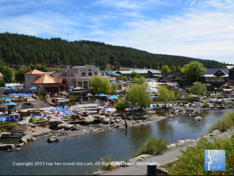 The beautiful San Juan River and hot springs in Pagosa Springs, Colorado