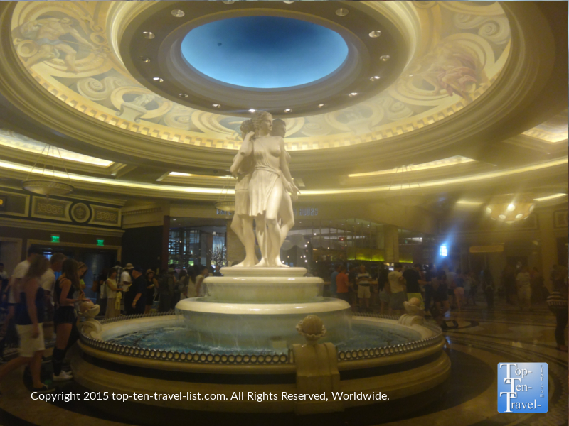 A beautiful fountain at Caesars Palace on the Las Vegas Strip