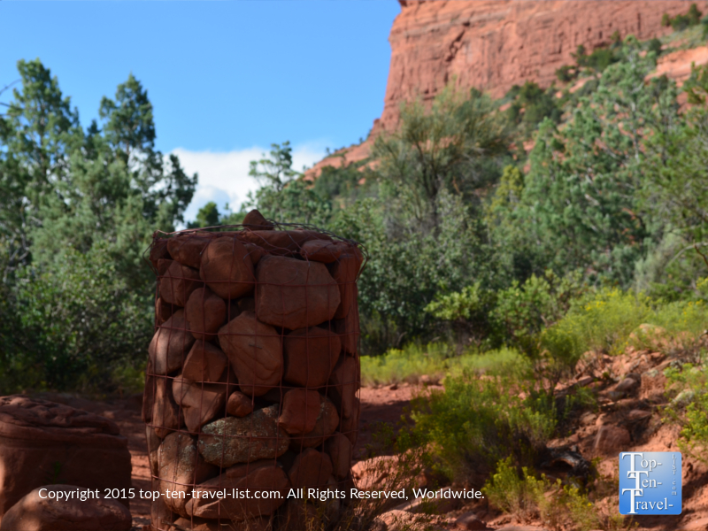Follow the cairns on the Soldier's Pass trail in Sedona, Arizona