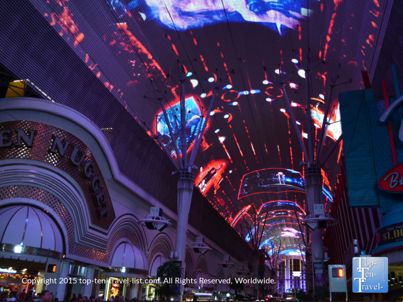 The must see light show on Fremont Street in Las Vegas, Nevada