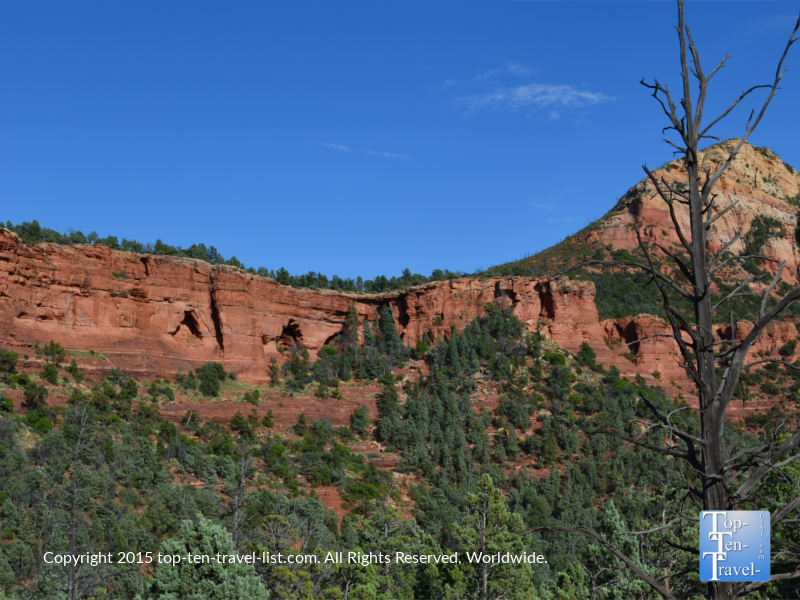 Gorgeous red rock views on Sedona's Soldier's Pass trail