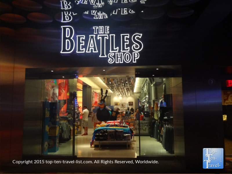 The fabulous Beatles Shop inside the Mirage Casino and Resort in Las Vegas, Nevada