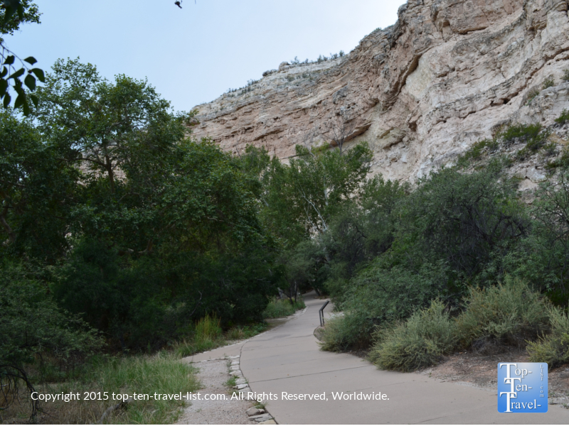 A view of the 1/3 mile paved path at Montezuma Castle near Camp Verde, Arizona