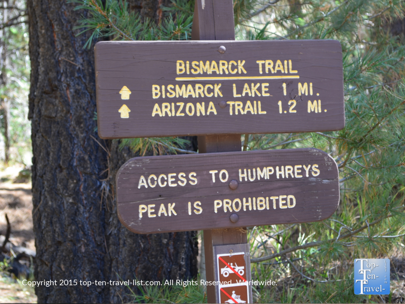 The Bismark Lake hiking trail in Flagstaff, Arizona