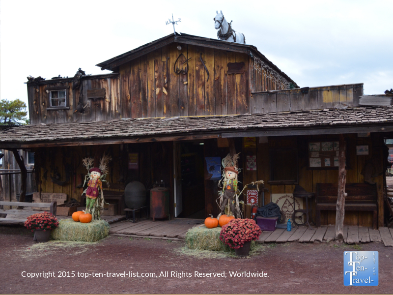Hitchin Post Stables in Flagstaff, Arizona during the fall season