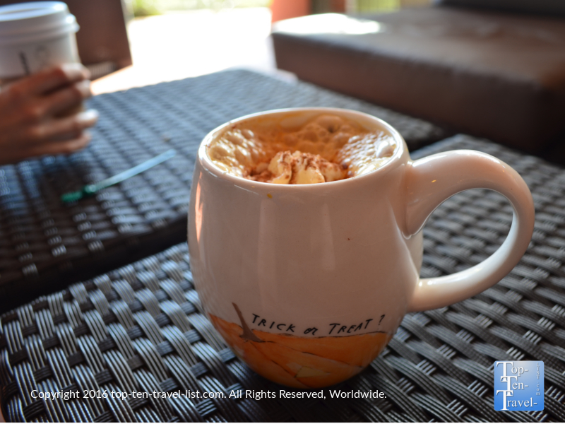 The fabulous Pumpkin Spice Latte at Starbucks