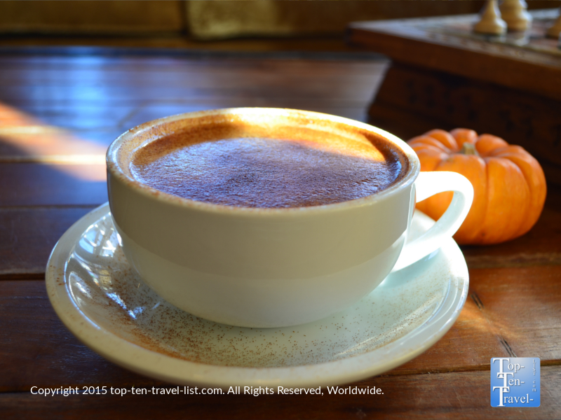 Cultured is one of several local businesses which offers a seasonal Pumpkin Spice Latte. This one is made with real pumpkin and lots of cinnamon.