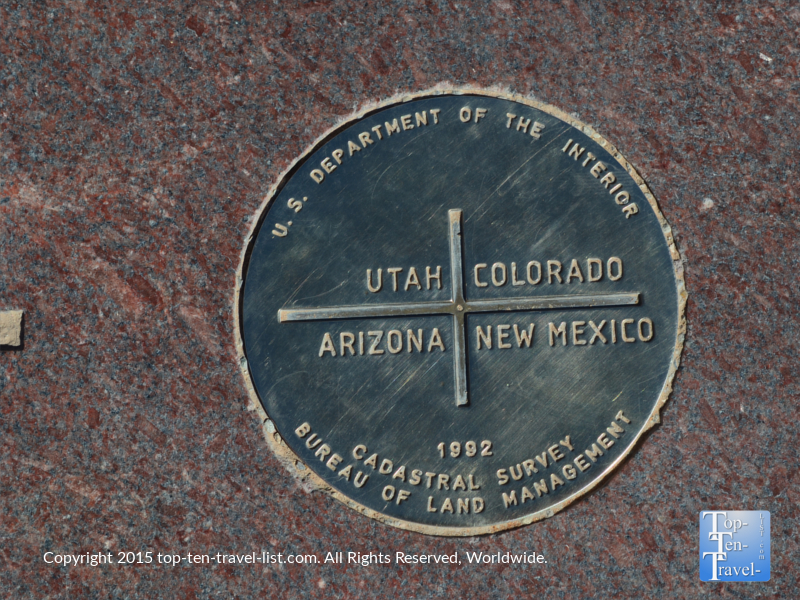 The Four Corners Monument Marker