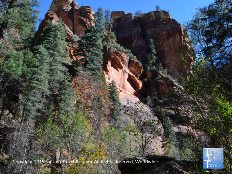 Gorgeous views of Sedona's red rocks along the West Fork hiking trail