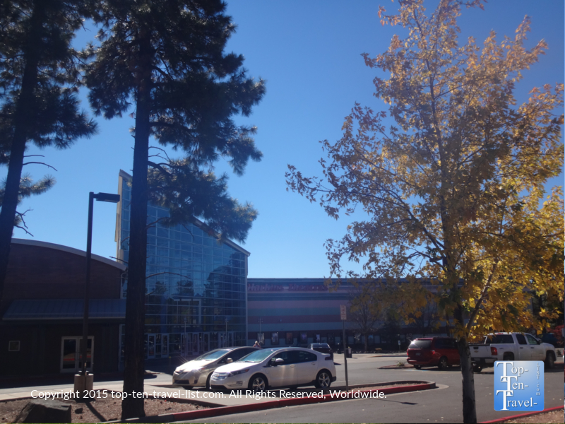 Fall colors near the Harkins movie theater in Flagstaff, Arizona