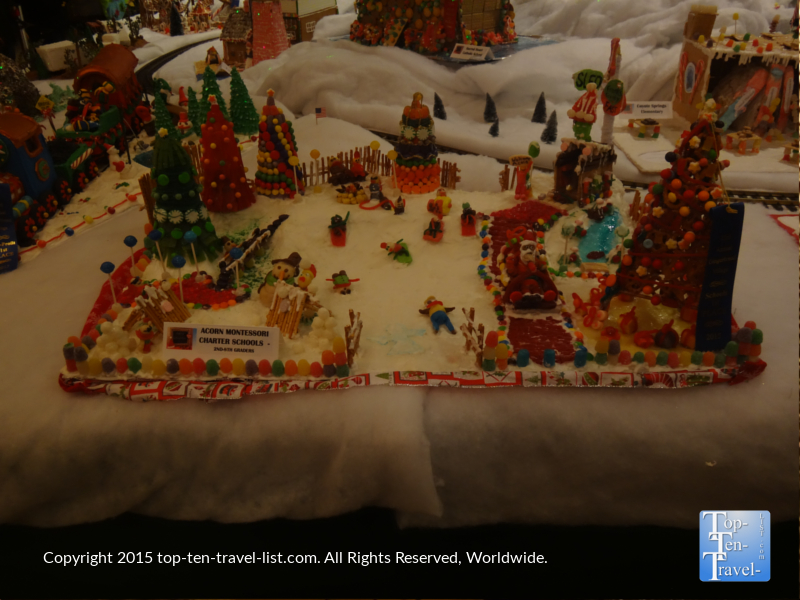World's Largest Gingerbread Village in Prescott, Arizona
