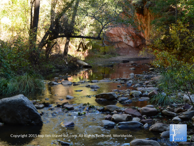 Gorgeous creek views along the Sedona West Fork hiking trail