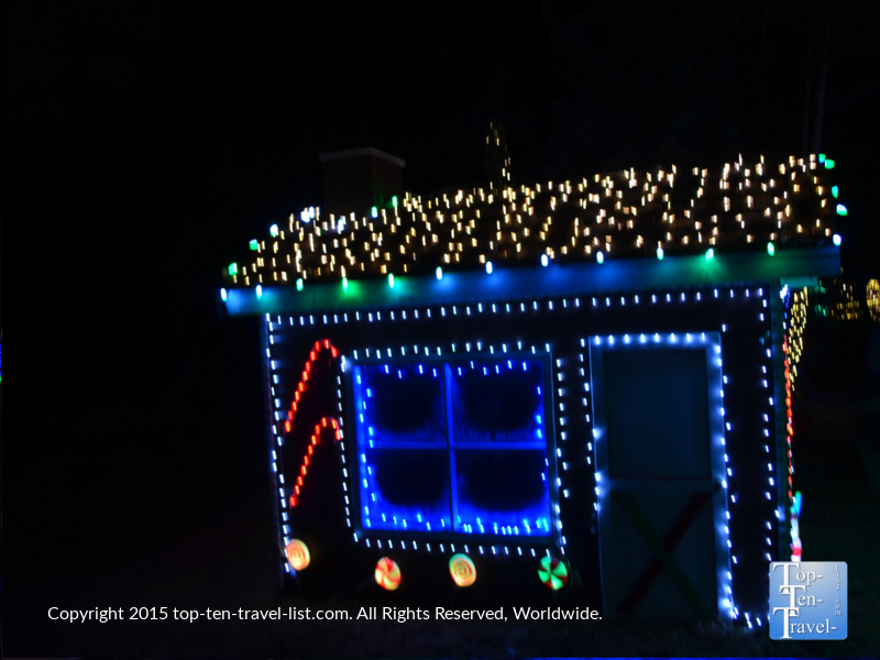 A gingerbread house display at the Little America hotel in Flagstaff during the annual light spectacular