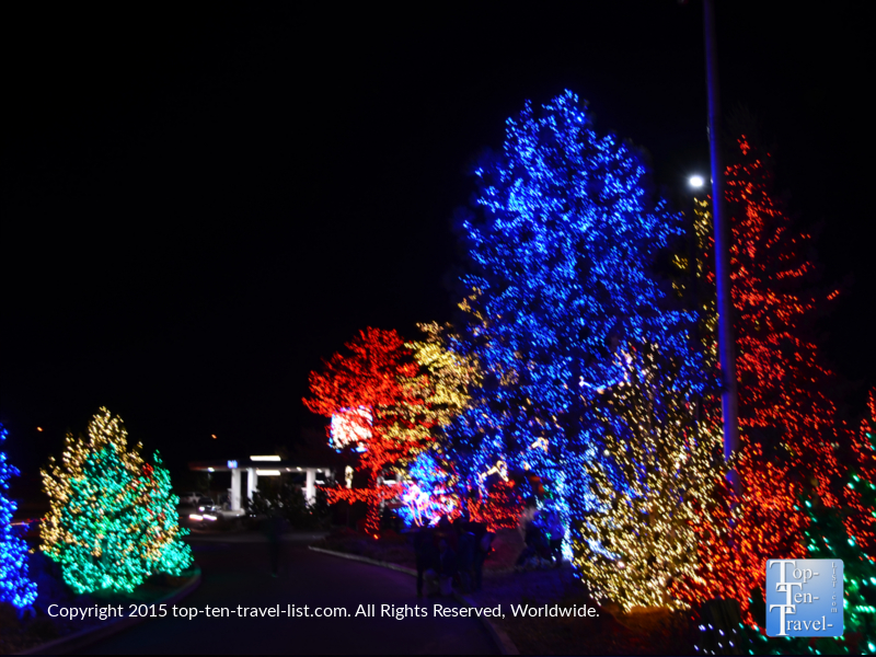 Beautiful holiday lights at the Little America hotel in Flagstaff, Arizona