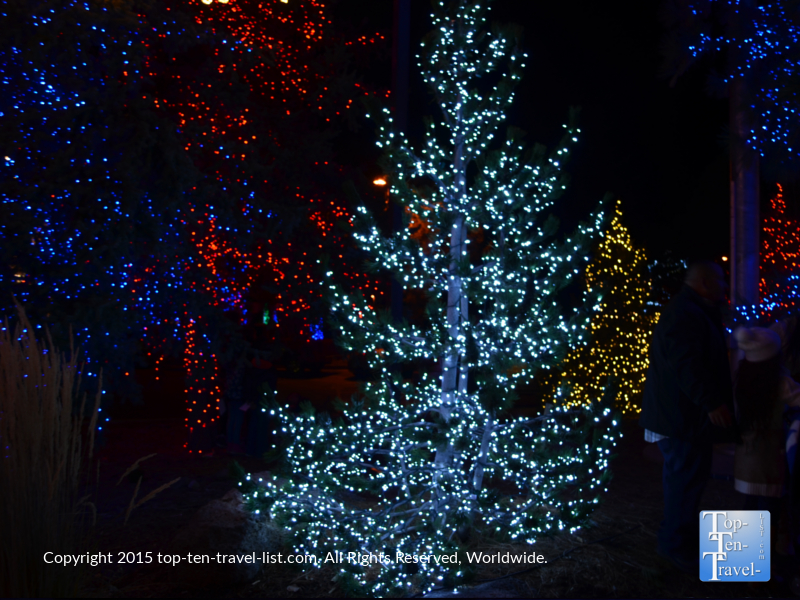 Beautiful holiday light display at the Little America hotel in Flagstaff, Arizona