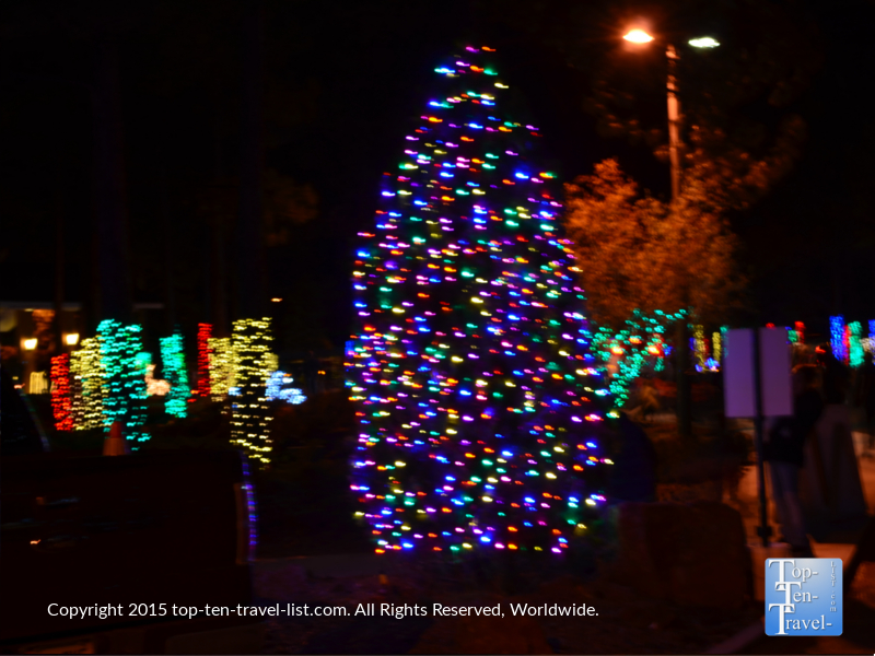 Gorgeous holiday lights at the Little America hotel in Flagstaff, Arizona