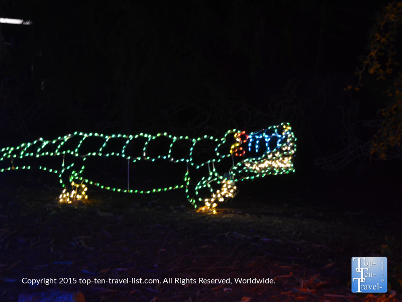 Alligator display at the Phoenix Zoo Lights